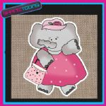 CUTE ELEPHANT DESIGN JUTE  SHOPPING LADIES GIFT BAG 005